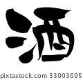 calligraphy writing, chinese character, kanji 33003695