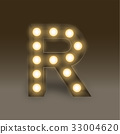 Alphabet Incandescent light bulb box set letter R 33004620