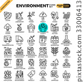 Environment & eco concept detailed line icons 33006413