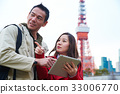 a man is looking at something that the girl is pointing 33006770