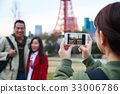 a girl is using a phone to take photos of a couple 33006786