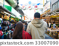 a couple is going shopping in a market 33007090