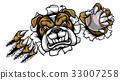 Bulldog Baseball Sports Mascot 33007258