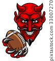 Devil American Football Sports Mascot 33007270
