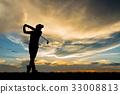 กอล์ฟ,ภาพเงา,โครงร่าง 33008813