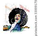 Afro american jazz singer in New York 33009170