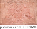 Native Thai art on low relief sculpture 33009694