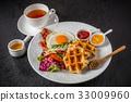 華夫餅 早餐 比利時華夫餅 33009960