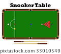 top view snooker ball on snooker table vector 33010549