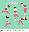 Yoga element for exercise daily. 33011243