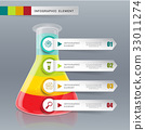 Creative template tube glass for infographic vecto 33011274