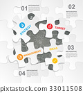 Puzzle jigsaw infographic design. 33011508