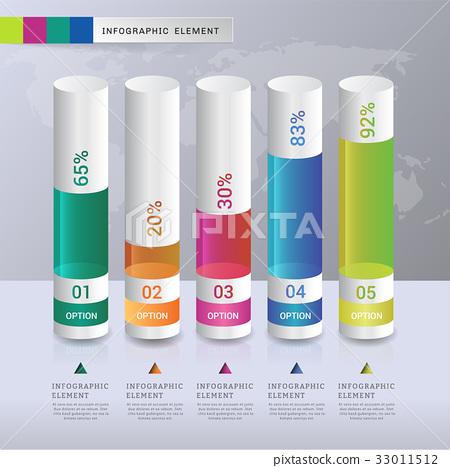 Data modern design number 5 step template. 33011512