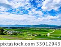 Rural landscape summer blue sky 33012943