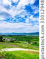 Rural landscape summer blue sky 33012948