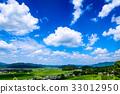 시골 여름 푸른 하늘 33012950