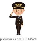 飛行員 敬禮 矢量 33014528