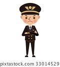 飛行員 雙手交叉 生氣 33014529