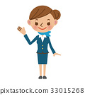 Cabin attendant to guide customers 33015268
