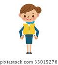 구명 조끼를 착용하고 사용법을 설명하는 객실 승무원 33015276