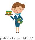 Cabin attendant serving drinks 33015277