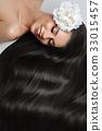 girl with beautiful long hair 33015457