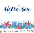 Background with sea shells 33015776