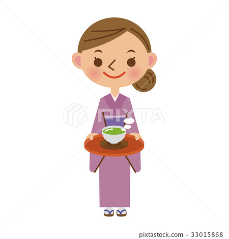 The female general of the inn who serves tea to customers 33015868
