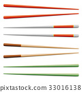 Food Chopsticks Set Isolated Vector Icon, Symbol 33016138