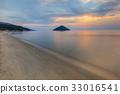 Paradise beach at sunrise. Greece 33016541