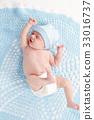 cute newborn baby in the blanket 33016737