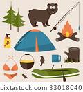 vector, camp, illustration 33018640