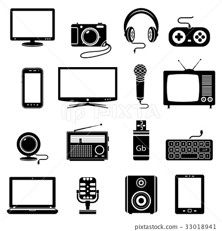 Technology devices icons 33018941