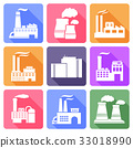 Factory flat icons set 33018990