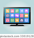 tv vector icons 33019128