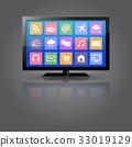 tv, vector, monitor 33019129