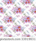Pattern with violet flowers 33019631
