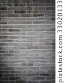 black brick wall background, old of texture 33020133