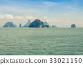 Great rocky mountain in the sea at Phuket,Thailand 33021150