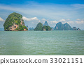 Great rocky mountain in the sea at Phuket,Thailand 33021151