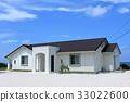 하얀 집과 푸른 하늘 33022600