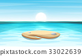 Cartoon island landscape illustration. 33022639