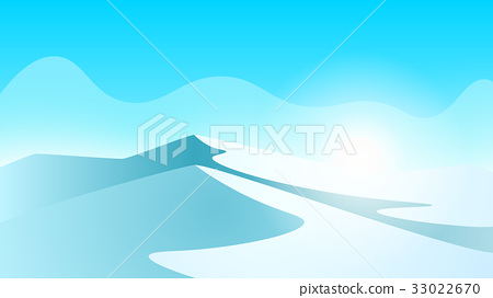 Ice landscape. Mountain and ice. 33022670