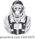 Vector hand drawn illustration of a monkey 33023075