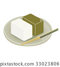 sweet rice jelly, nagoya famous item, vector 33023806