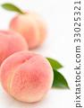 桃子 水蜜桃 桃 33025321