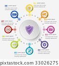Infographic template with security icons 33026275