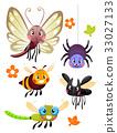Cute Colorful Bugs Mascots 33027133