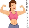 Girl Body Fit Muscular 33027172