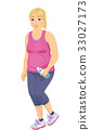 Chubby Girl Jogging Tank Top Sweatpants 33027173